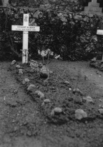 The grave just post war