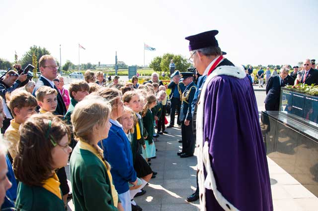 The dignitaries meet the children who made the event so special linking the past with the present and into the future.